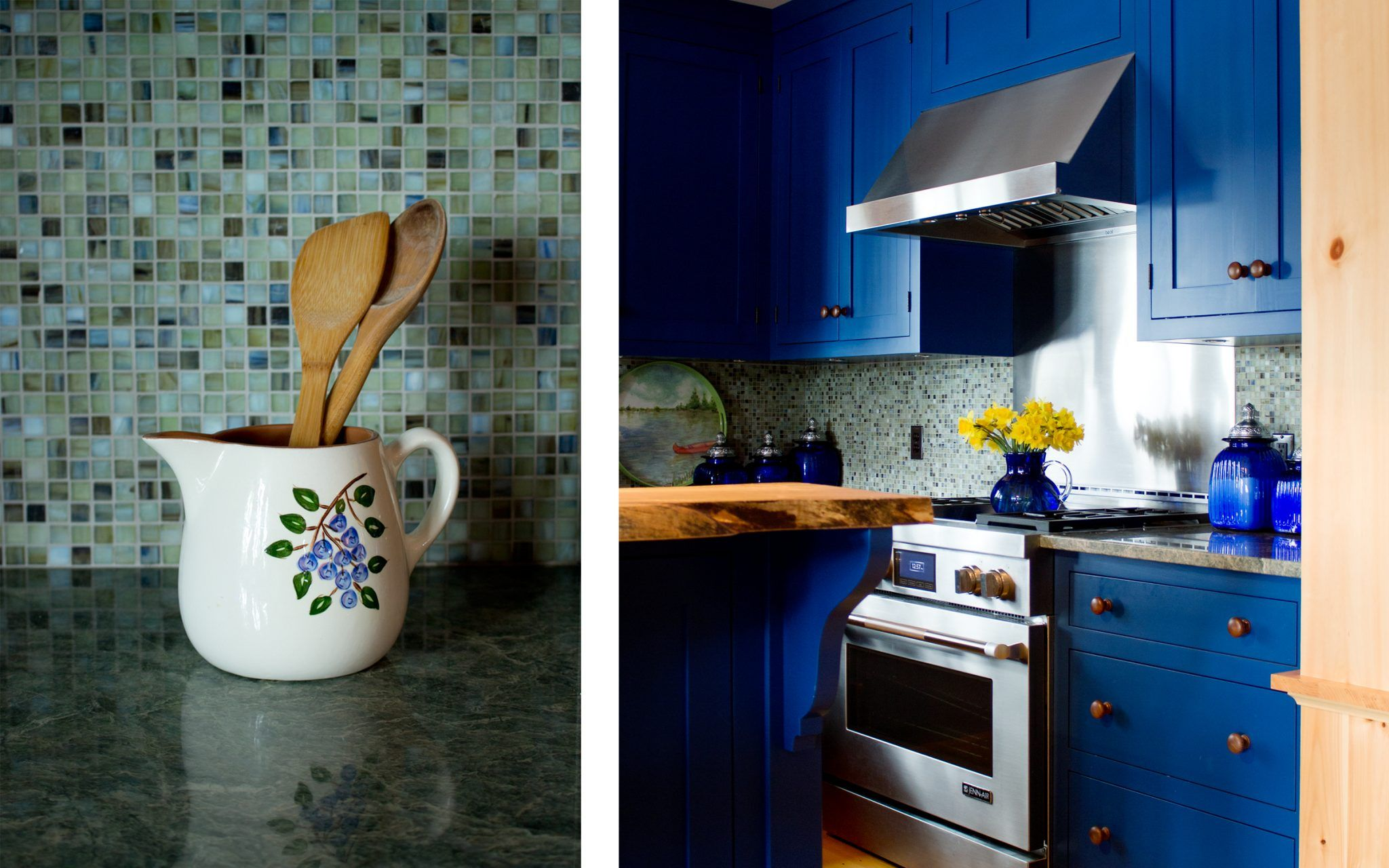 Kitchen Designers Boston Extraordinary Bold Kitchen Colors In A Lakefront Cottage Designedboston Design Ideas