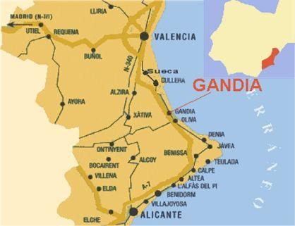 Mapa Costa Comunidad Valenciana.Costa De Valencia Mapa Detraiteurvannederland