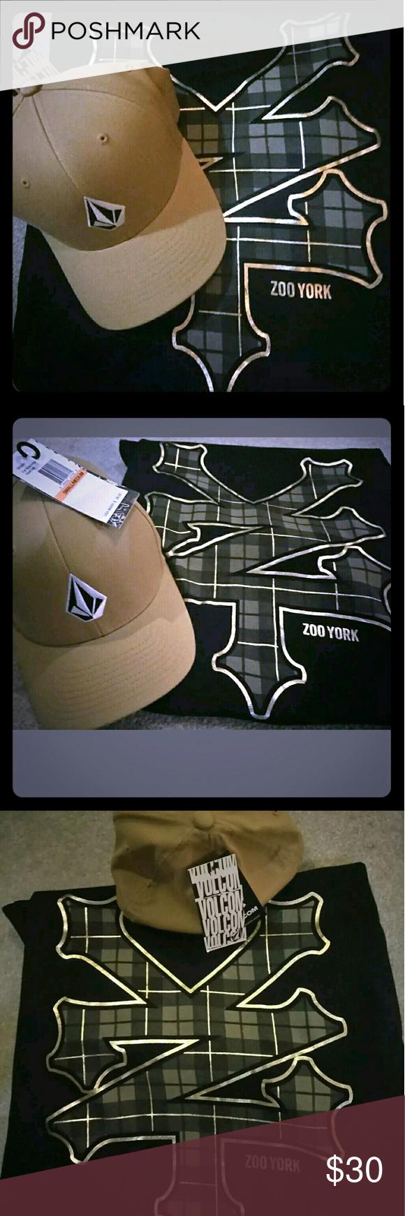 47d167bca91a6 Volcom Hat + Zoo York T-Shirt Matching Pair New Volcom   Zoo York Matching