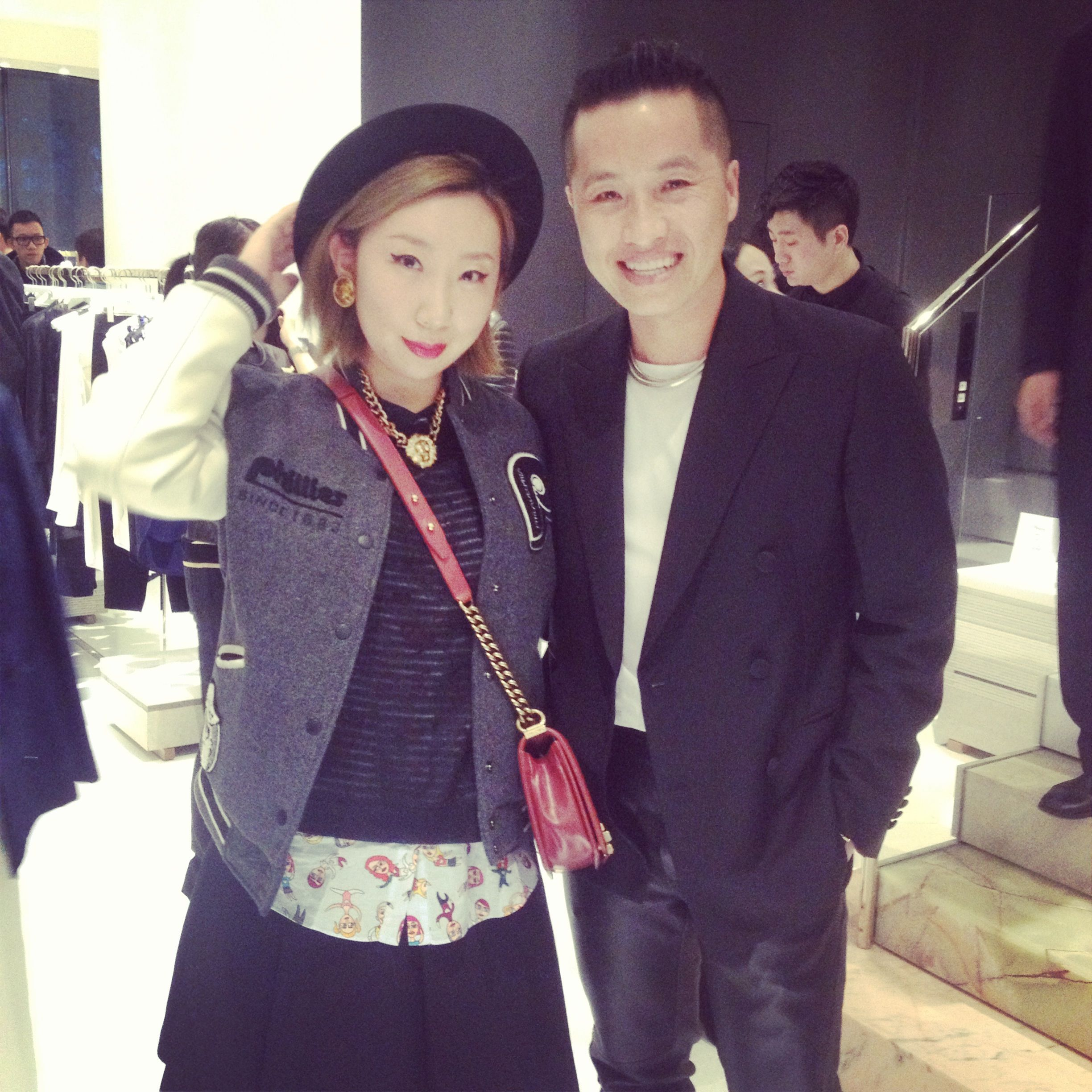 With Phillip Lim today