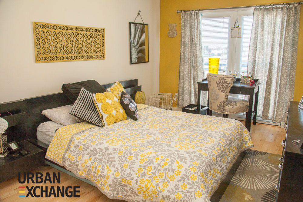 Modern Yellow Bedroom Decor Downtown Living At The Urban Exchange