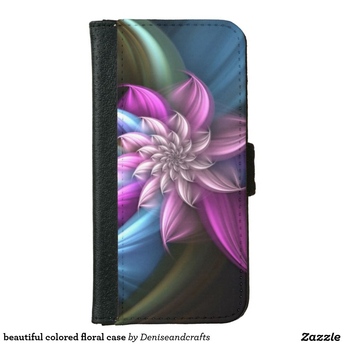 beautiful colored floral case iPhone 6 wallet case