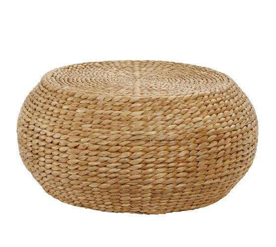 Round Woven Coffee Table Pottery Barn การตกแต ง