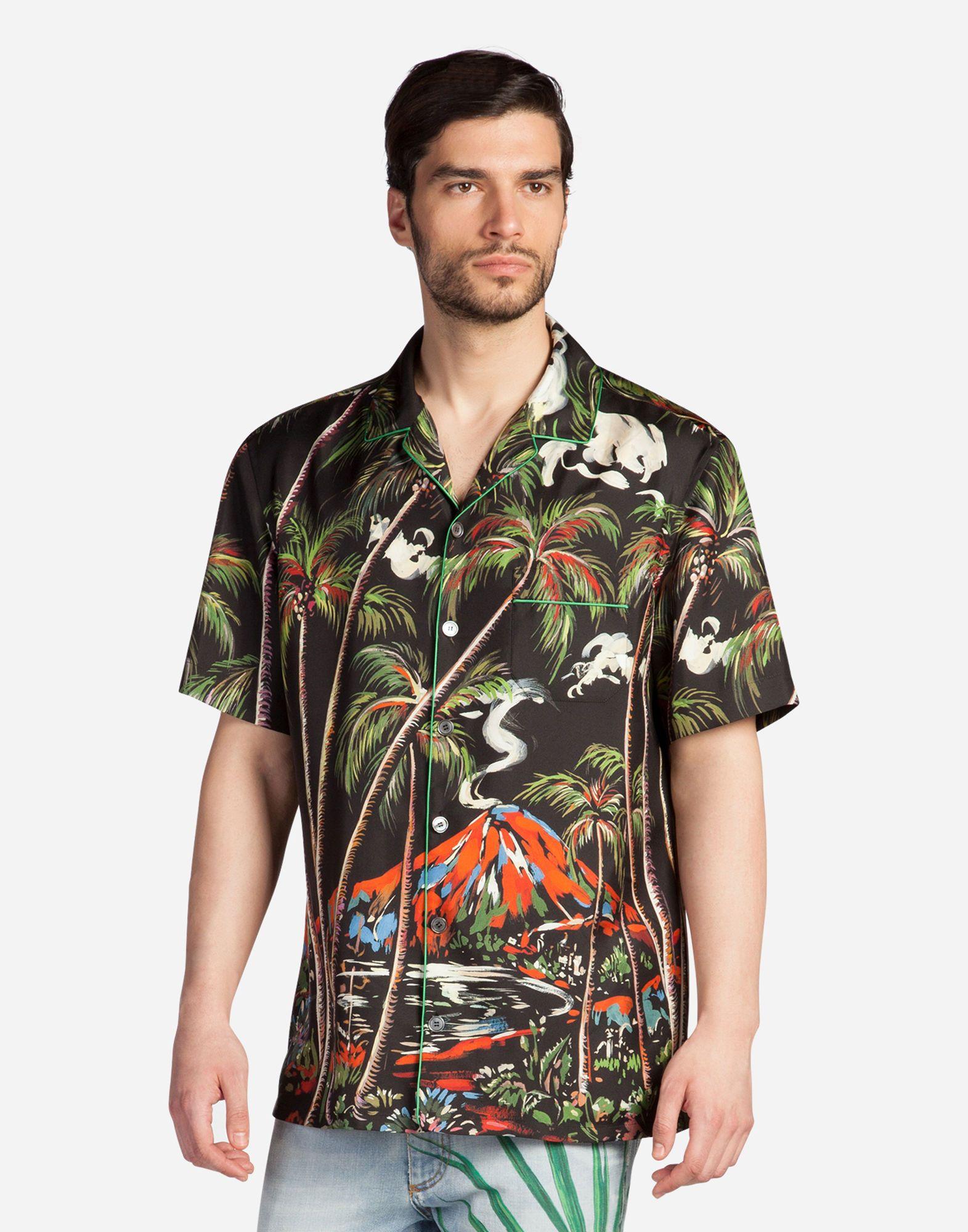 ba3ef260072 DOLCE   GABBANA Pajama Shirt In Printed Silk.  dolcegabbana  cloth ...