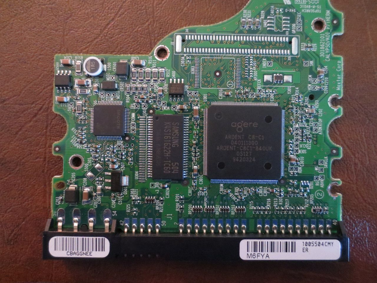 Maxtor 6Y080L0 CodeYAR41BW0 NMGA M6FYA 80gb IDE PCB