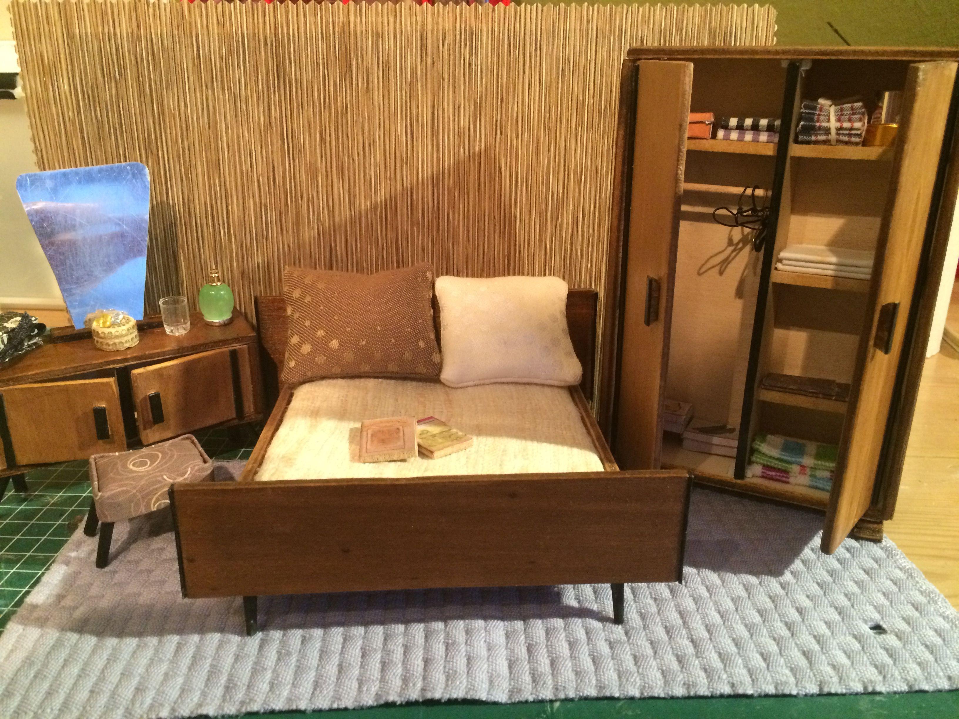 Slaapkamer jaren 50 112  Poppenhuis  Pinterest