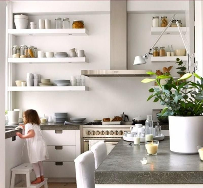 15 Beautiful Kitchen Designs with Floating Shelves | Kitchen ...