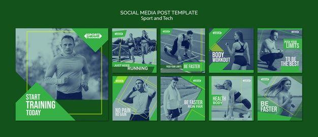 Modelo de posts do instagram de esporte ... | Free Psd #Freepik #freepsd #negocio #modelo #esporte #...