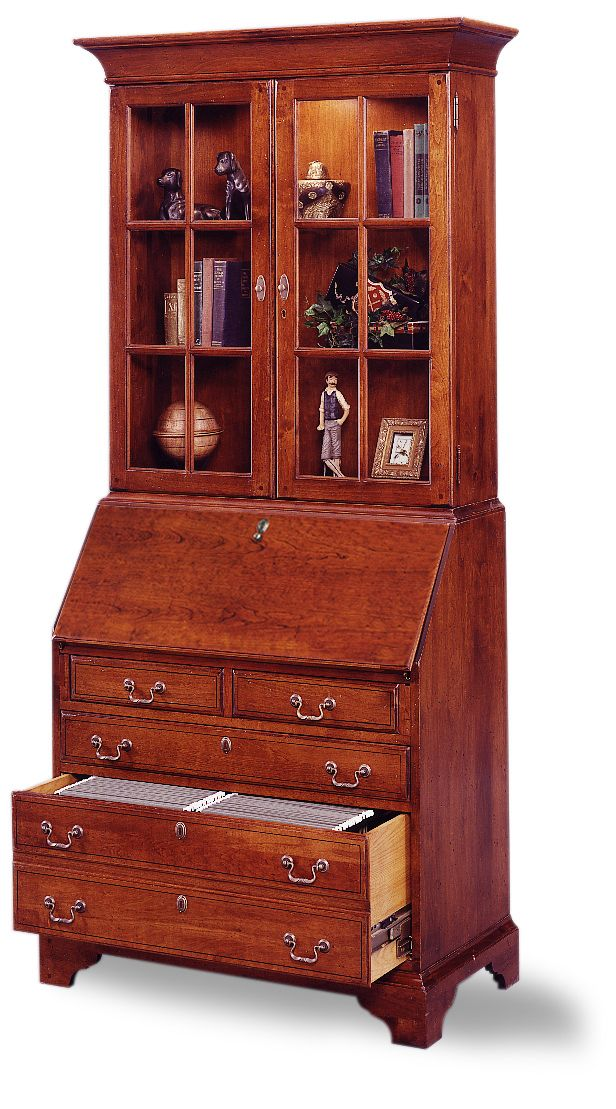 jasper cabinet arlington 875 03 file drawer secretary desk with hutch top locking drop lid. Black Bedroom Furniture Sets. Home Design Ideas