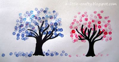 A Little Crafty Cotton Bud Tree Painting Cotton Painting Tree