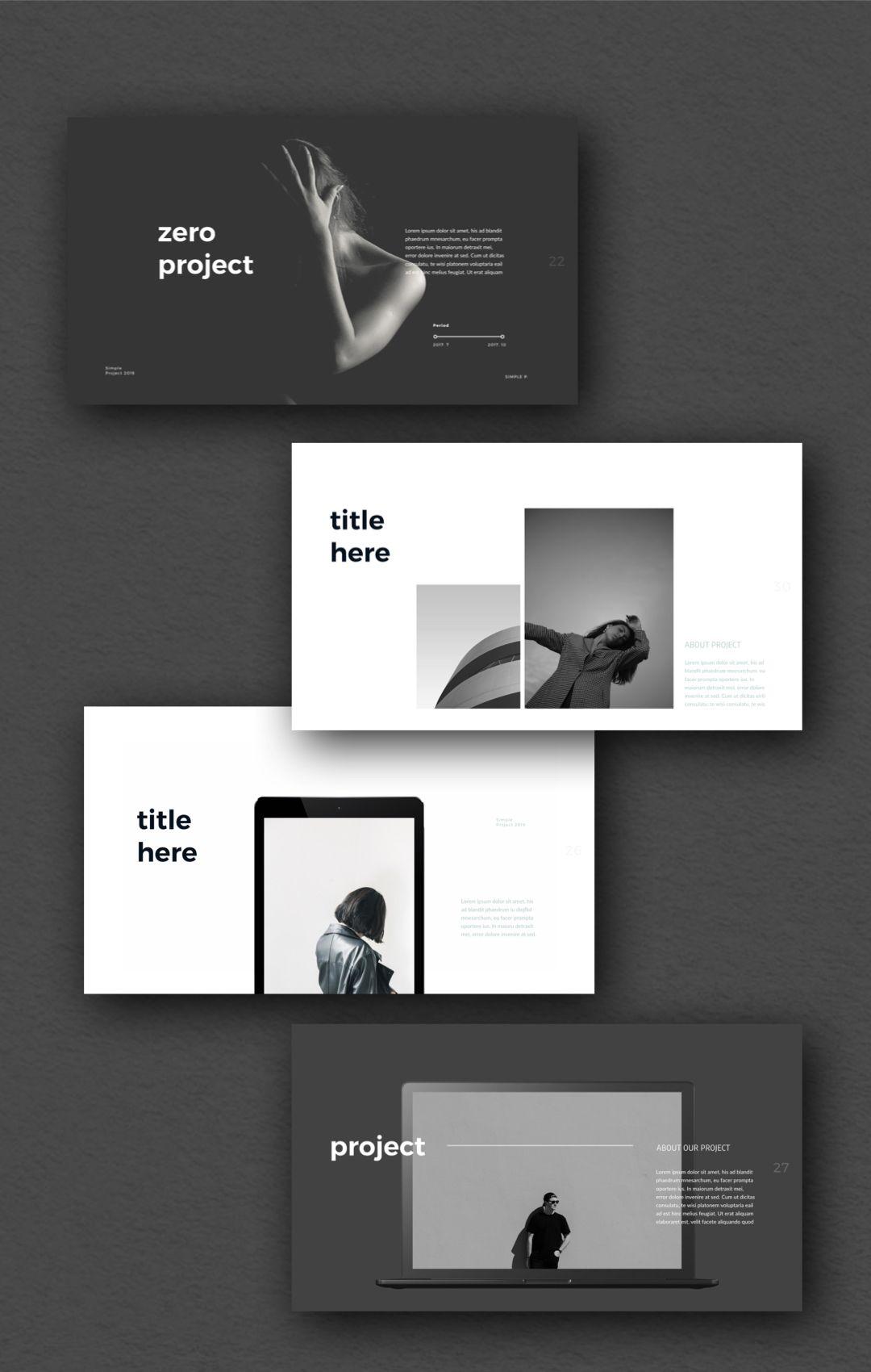 Zero Powerpoint Template Presentation Design Layout Portfolio Design Layout Powerpoint Presentation Design
