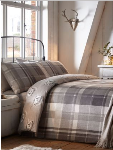 Brown Hedgehog And Check Bedsheets With Images Duvet Cover Sets Cotton Duvet Cover Duvet Sets
