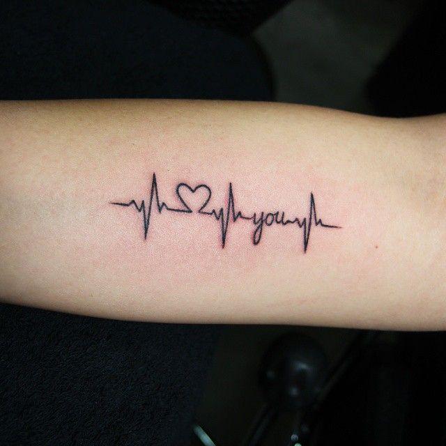 Tattoo journal 25 heartbeat tattoo ideas and design lines feel your own rhythm http - Ligne de vie tatouage ...