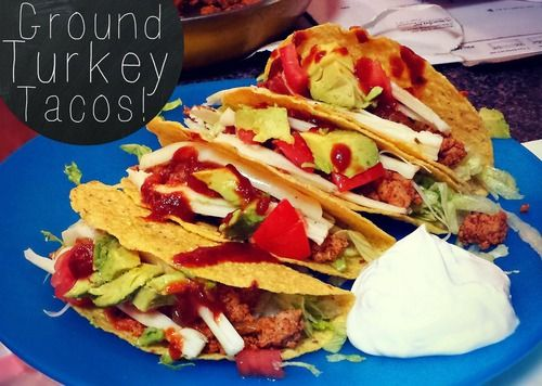 Light Crunchy Ground Turkey Tacos #groundturkeytacos