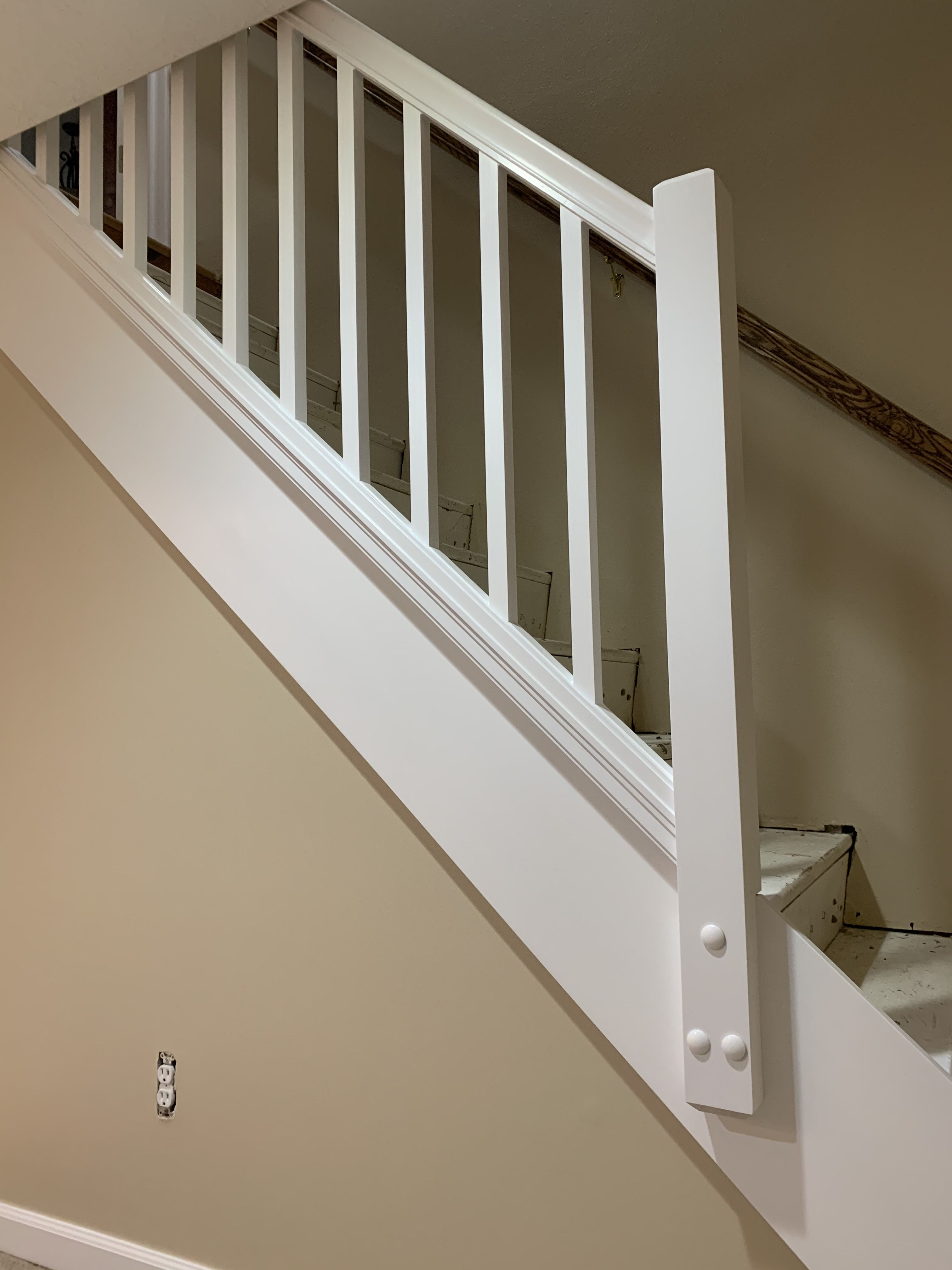 Removable Railing Stair Remodel House Stairs Diy Stair Railing