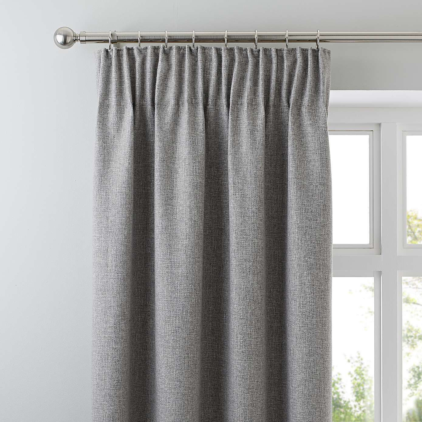 Jennings Grey Thermal Pencil Pleat Curtains Grey Pencil Pleat Curtains Pleated Curtains Pencil Pleat