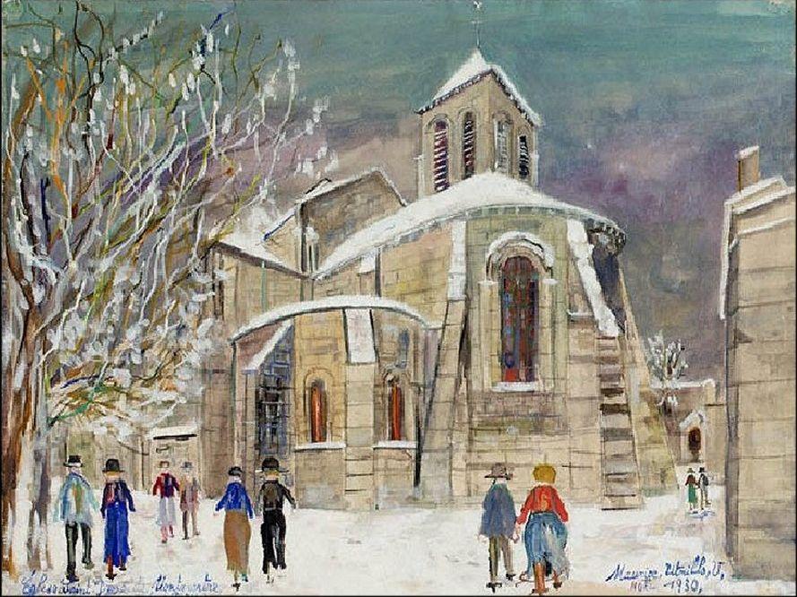 """""""Eglise St-Pierre à Montmartre"""" - Maurice Utrillo"""