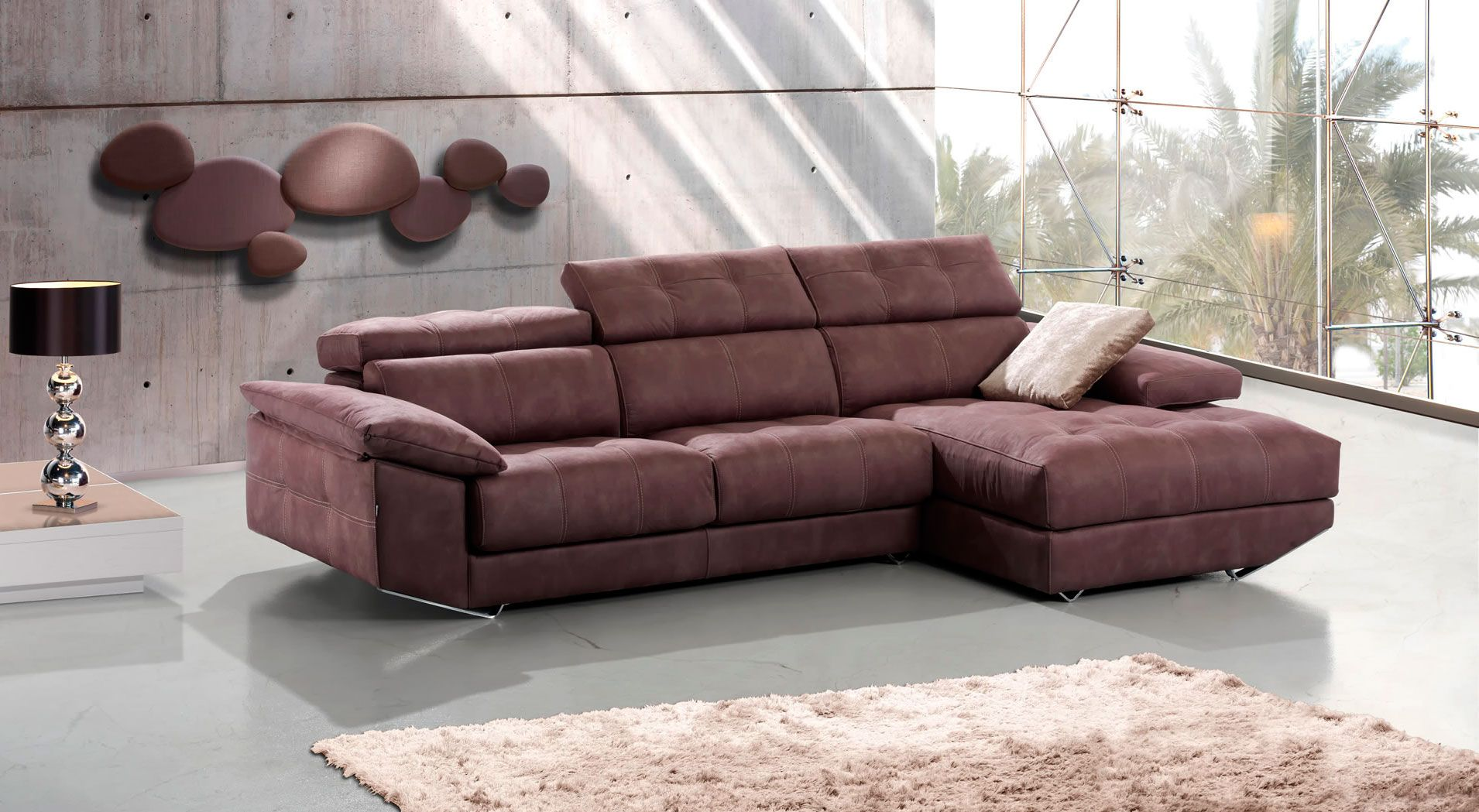 Sof con chaise longue gin fabricado por divani star en for Sofa cama chaise longue 2 plazas