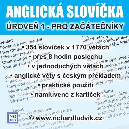 Audiokniha vás učí poslouchat jednoduché věty pořád dokola a to dlouho, až přes 8 hodin. Můžete poslouchat celkem 1770 jednoduchých vět. To není málo, když si uvědomíte, že všechny věty jsou jiné. Za každou anglickou větou je připraven český překlad.Nejsou to složité věty, kterým nebudete rozumět, ale jednoduché a praktické věty.V těchto větách budete moci rozpoznat jednotlivá slovíčka a procvičovat si jejich zapamatování.