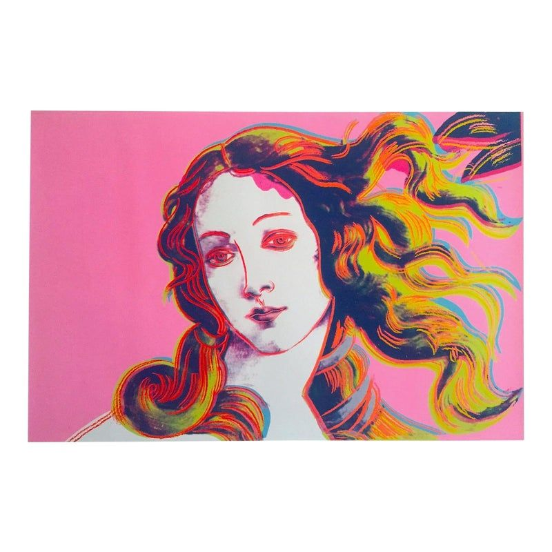 "Andy Warhol Foundation Lithograph Print Pop Art Poster "" Birth of Venus "" 1984"
