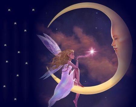 Moon Fairy Desktop Nexus Wallpapers Fairy Wallpaper Moon Fairy Fairy Pictures