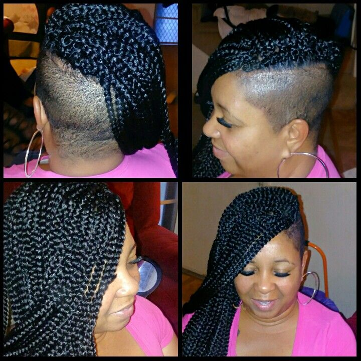 Crochet Box Braids With Images Braids With Shaved Sides
