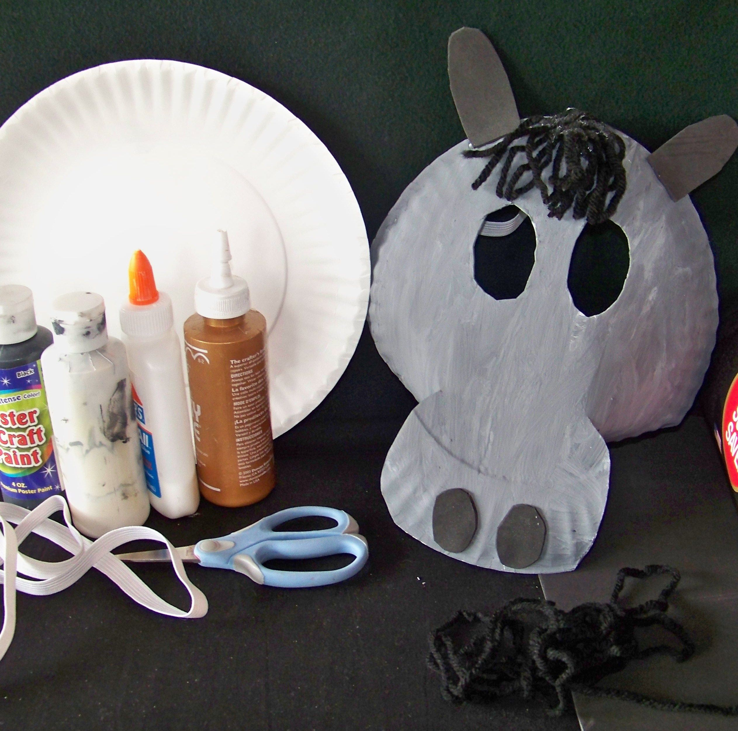 donkey-mask/ going to attach this to a stick for Palm Sunday