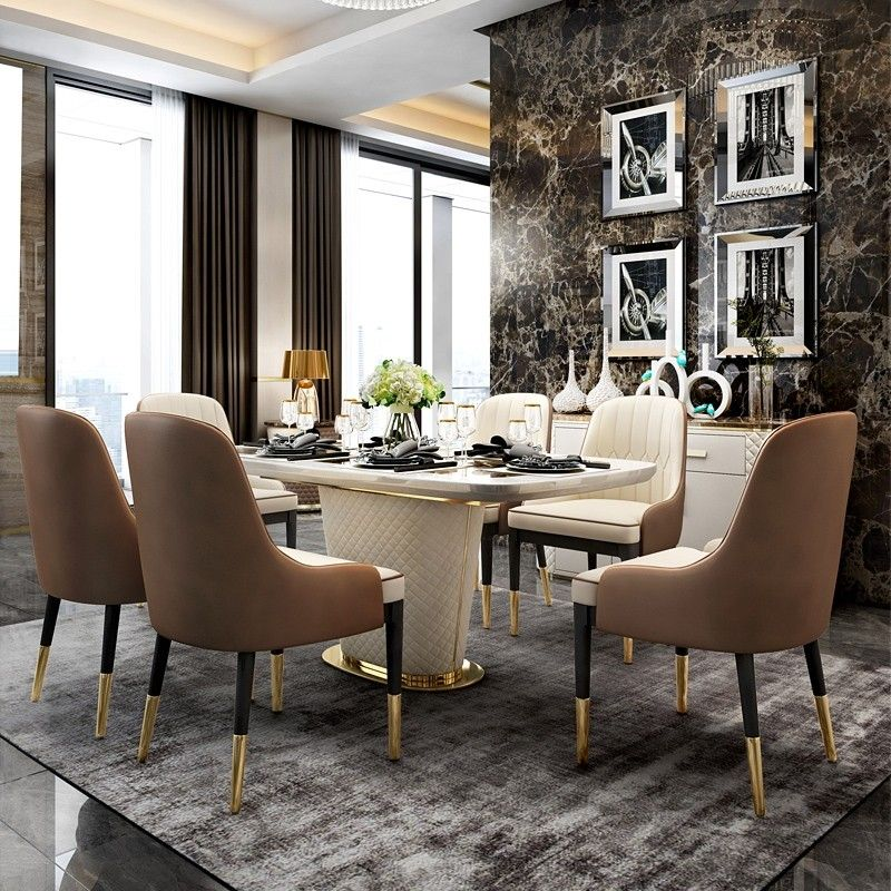 Modern 63 In 2021 Luxury Dining Tables Dining Table Marble Dining Table Chairs