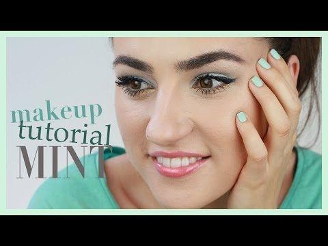 Ako sa nalíčiť v mentolovej farbe / Minted makeup by Patty Image - YouTube #nalíčiť