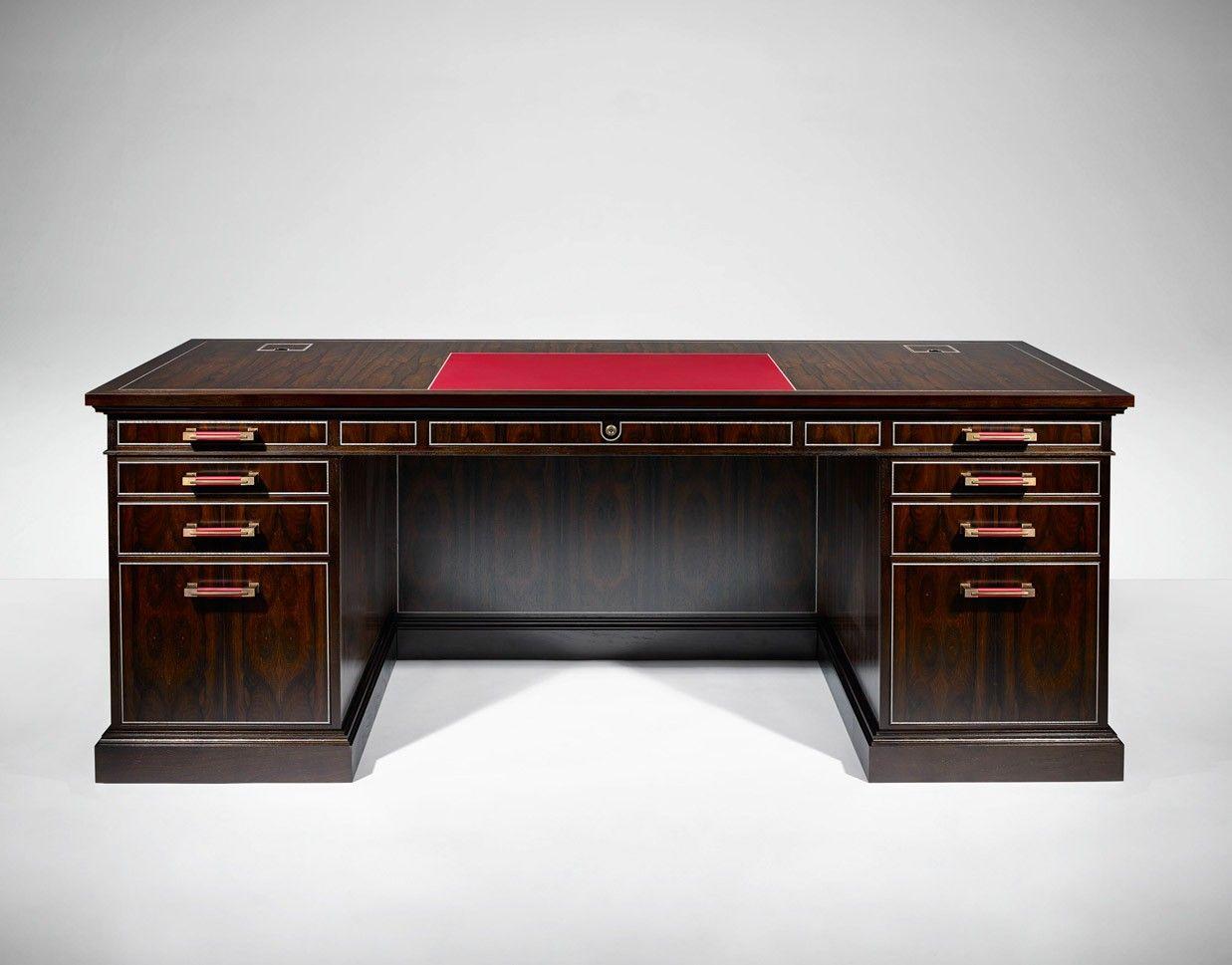 Pedestal Desk Linley Craftsmanship Bespoke
