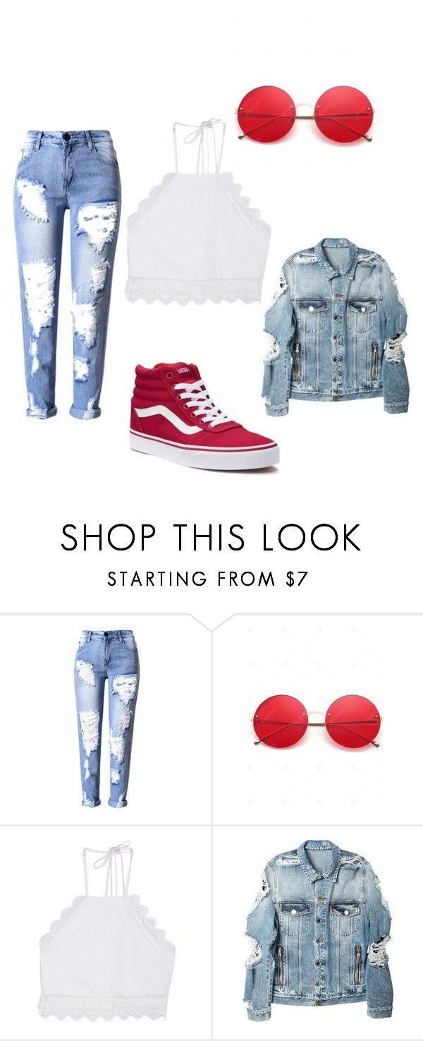 """Insta ready ❤️"" by puplecutie on Polyvore featuring Front Row Shop, Balmain and Vans"
