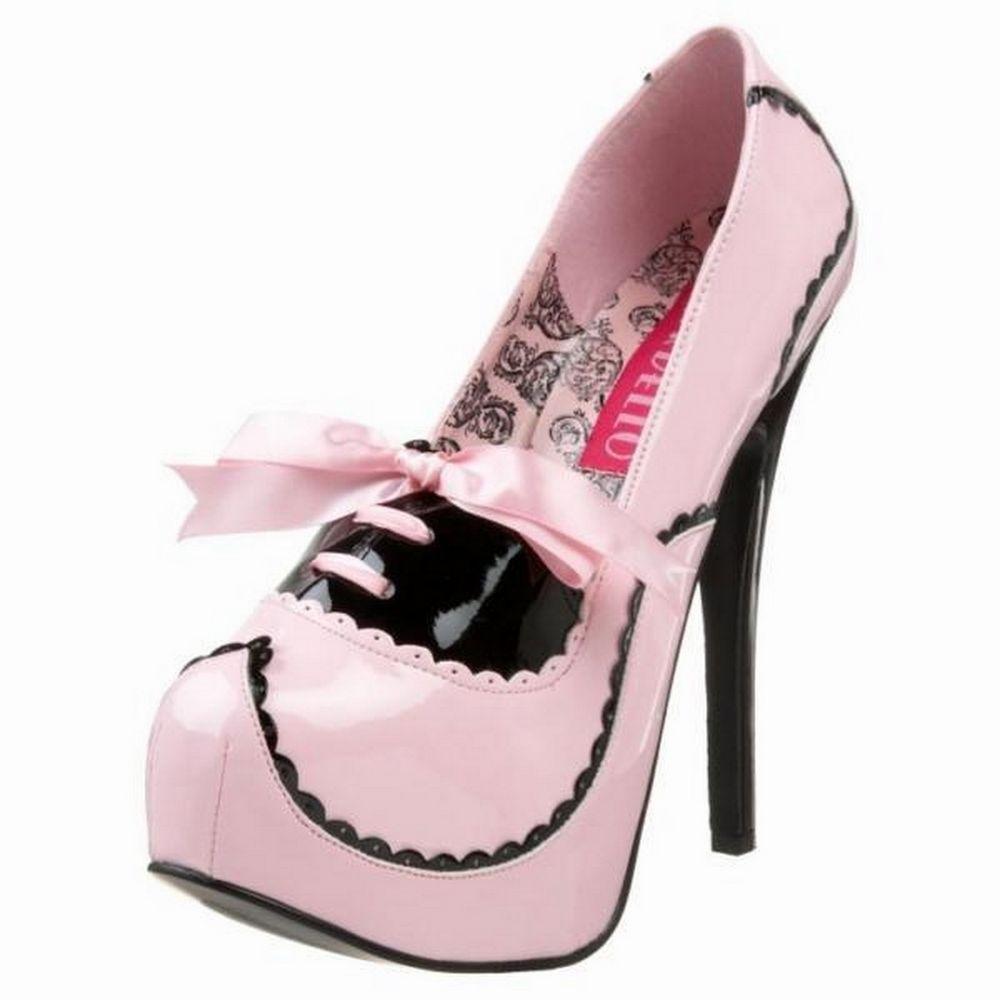 Zapatos blancos sexy Bordello para mujer 6lLIf