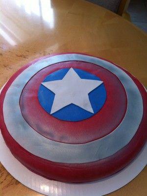 Captain America Shield cake decorating Pinterest Captain