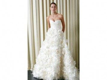 Monique Lhuillier Sunday Rose Wedding Dress $7,000