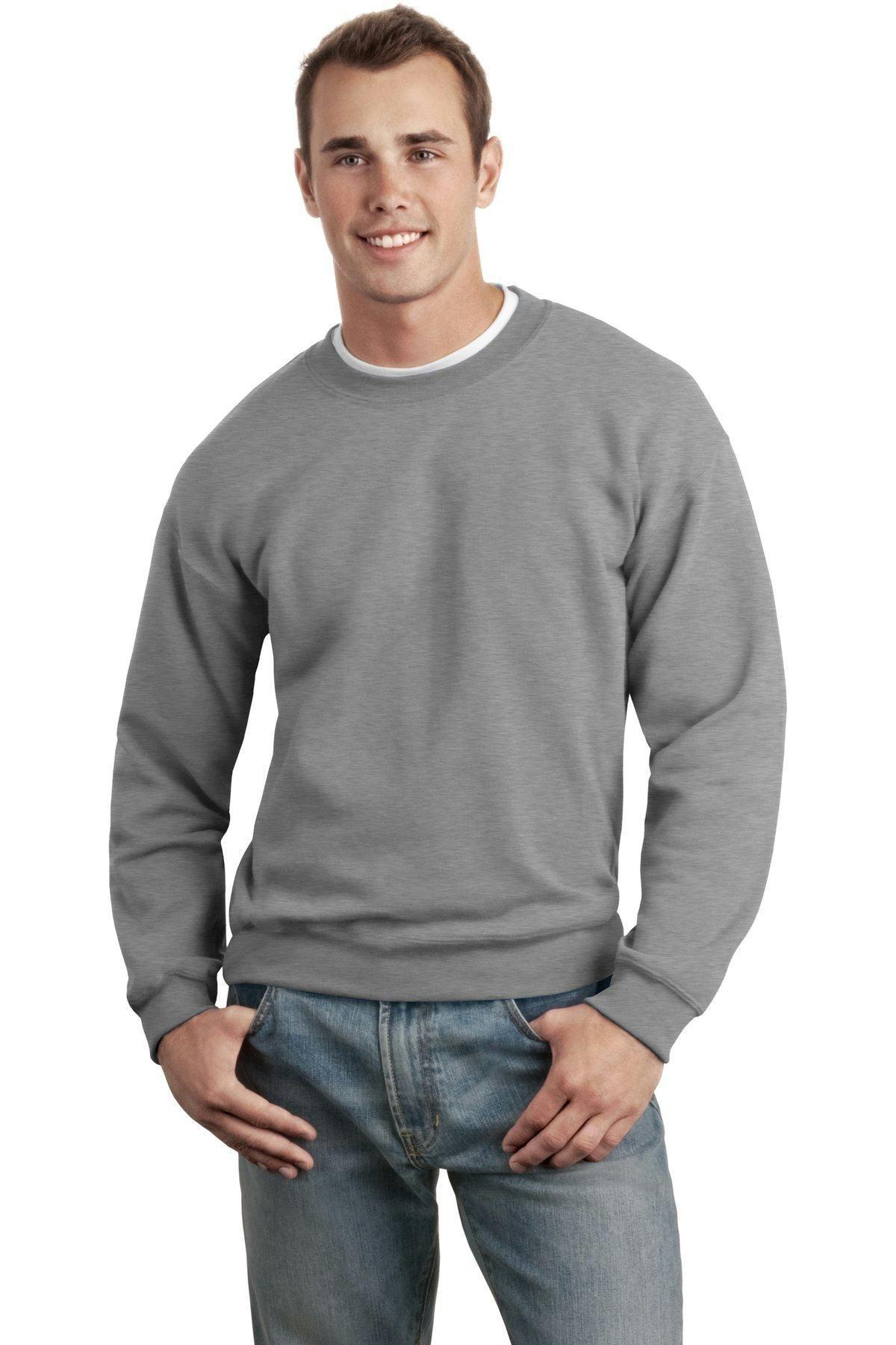 NEW Womens Fleece Sweatshirt Small Solid Blue Crew Neck Pullover Sweats Gildan