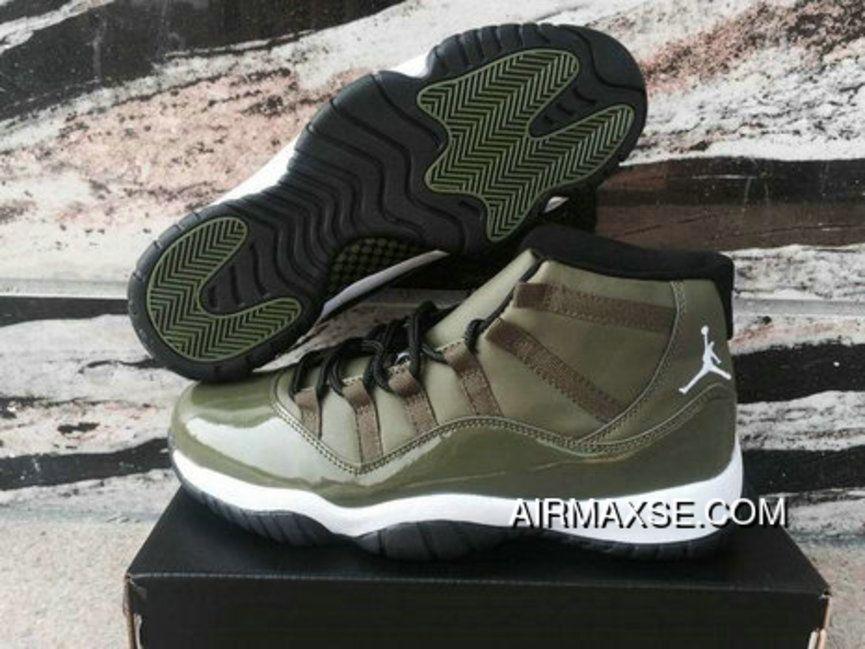 8c54bf4770d New Release Nike Air Jordan 11 XI Olive Green in 2019 | hot sneakers ...