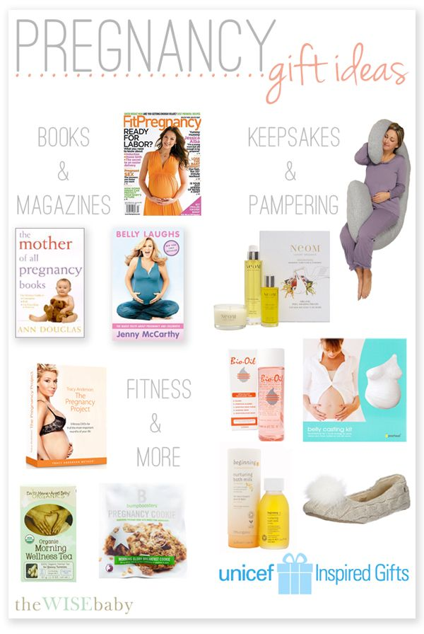 The perfect pregnancy gift basket filled with magazines preggie a great list of pregnancy gift ideas for all styles and budgets negle Choice Image
