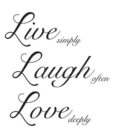U0027Live Laugh Loveu0027 Wall Decal #zulilyfinds