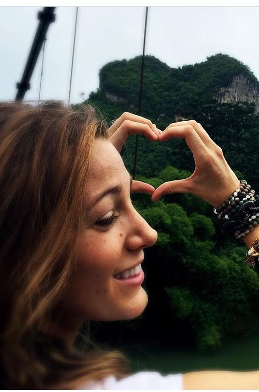 Blake Lively, with brown hair.