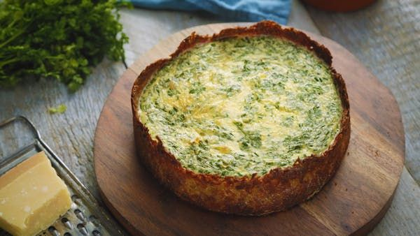 Cheese and Herb Pie With Potato Base