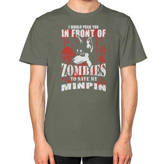 Save my min pin Unisex T-Shirt (on man)