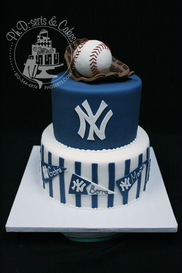 New York Yankees Groom S Cake Baseball Birthday Cakes