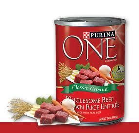 Purina One Wholesome Beef Brown Rice Entree Canned Dog Food
