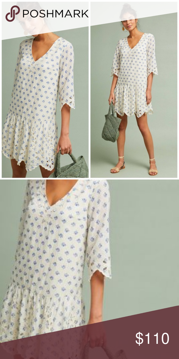 e74a82630ea5 New Anthropologie Meadow Rue Eyelet Tunic Dress M New Anthropologie Meadow  Rue Eyelet Tunic Dress M Dresses