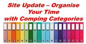 Site Update - Organise Your Time with Comping Categories | The Prize Finder