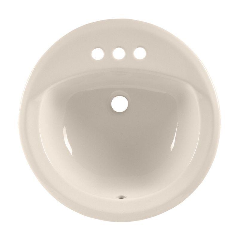 American Standard Rondalyn Round Drop In Bathroom Sink With 3