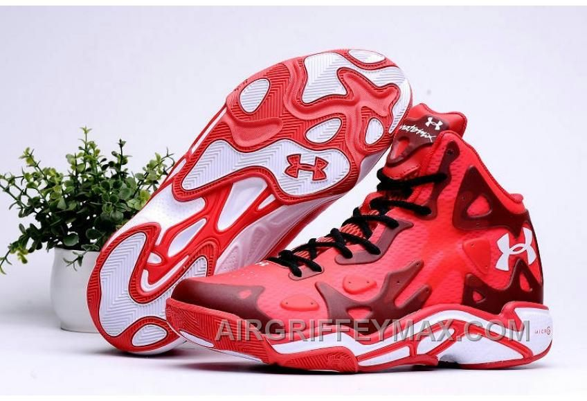 2016 Under Armour Micro G Anatomix Spawn 2 Mens Shoes Red White Sneakers Free Shipping TbpAS8
