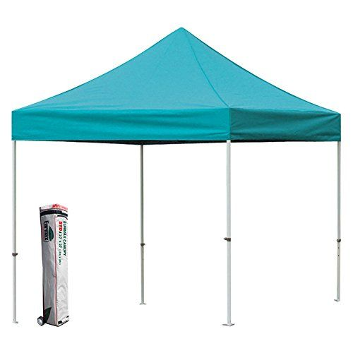New Std Eurmax 10x10 Ez Pop Up Tent Instant Canopy Shade Shelter Outdoor Gazebo With Wheeled Bag Turquoise To Vie Outdoor Gazebos Instant Canopy Pop Up Tent