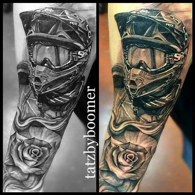 Motocross Tattoo Motocross Pinterest Tatouage Moto Tatouage