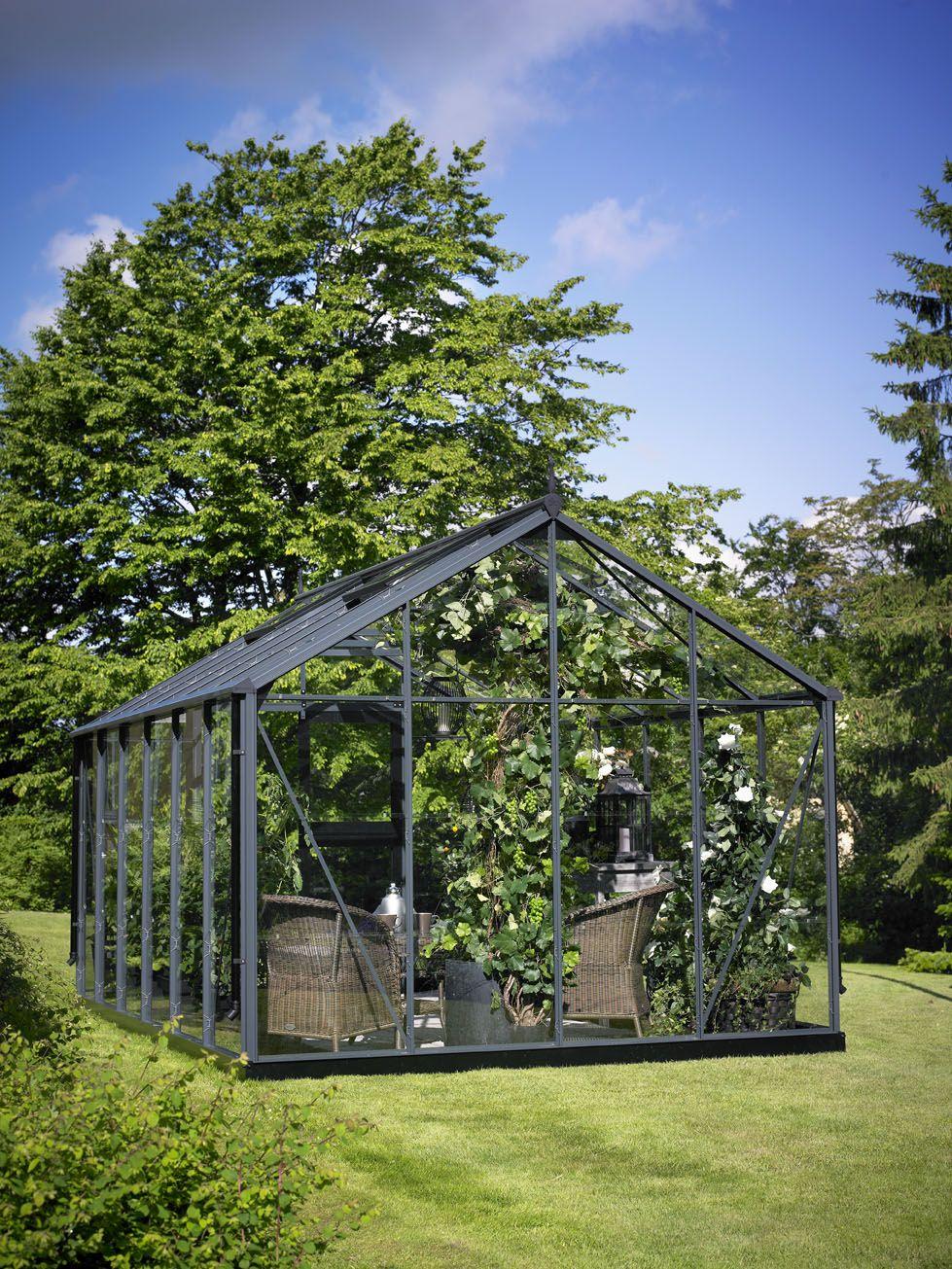 Juliana Premium Greenhouse In Anthracite Finish Orto 400 x 300